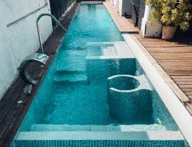 Canal de nado con zona de spa 20x2